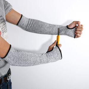 Luvas NOVO Segurança Grey Cut resistente ao calor mangas braço Guarda Proteção Armband Workplace Proteção Segurança Um Par