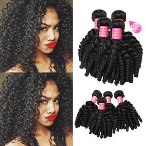 8а бразильские упругие локоны ткать девственные тетенька Funmi человеческих волос ткать 4 пучка романтика свободные волны кудри Реми человеческих волос расширения