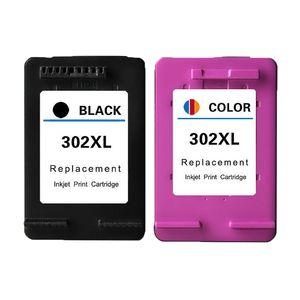 2PK 302XL cartuchos de tinta de impressora para HP 302 XL para HP 4652 4654 4655 4658 4520 1110 3630 3632 3633 3634 3636