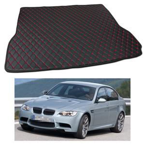 Novo Anti Scrape Couro Car Trunk Mat Tapete Fit para BMW M3 Sedan 2008-2014 09 10 11 12 13