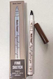 Музыка цветок жидкая бровей Pen Музыка цветов 3 цвета бровей Enhancer четыре головы бровей усилитель водонепроницаемый бесплатная доставка DHL