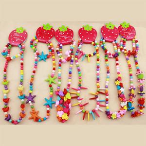 DIY Baby Perlen halskette schmuck Kinder Bunte Perlen Halskette + Armbänder 2 teile / satz Mädchen Weihnachtsfeier Schmuck Zubehör C3179