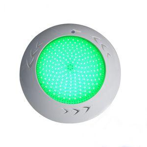 الخيالة 18W 42W تحت الماء أضواء الراتنج مليئة RGB LED حمام سباحة الضوء IP68 سطح Focos مصباح للخرسانة / الفينيل / بطانة بركة الإضاءة