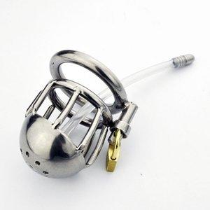 Seksi Monalisa Steel Erkek The - İnce tüpü ile Chastity Cage Yumuşak Paslanmaz Kapak # R47 FMWAD