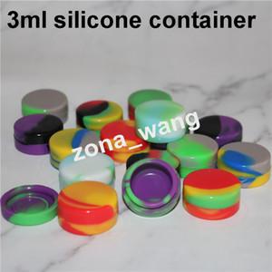 vendita calda Contenitori di cera antiaderente in silicone 3mL 5mL 7mL 7mL mini Dab Waxy Jars Contenitore concentrato di nettare in silicone
