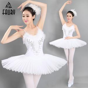 Vestido de baile de las muchachas del ballet Adulto Profesional Swan Lake Tutu Ballet Costume Princesa Dress Platter Skirt Dance Disfraces