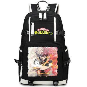Anime Sac à dos en plein air My Pack Schoolbag Sport Todoroki Casual Style Scold Sac Sac Jour Packsack Qualité Rucksack Hero Academia Shoto Daypa Hgqe