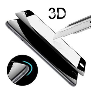 Для iPhone 7 plus закаленное стекло 3D круглый изогнутый углеродного волокна мягкий край закаленное стекло-Экран протектор для iPhone 7 6 6 S Plus