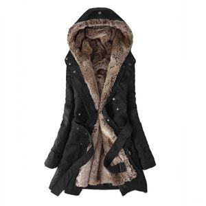3 colors 2018 Winter Coat Women Winter Jacket Hooded Slim Cotton Warm Coats Solid England Style Fashion Mid-Length Coat Women