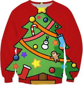 New Fashion Star Candy Cane Prunte Christmas Tree Gift Cool Sweatshirt Hoodies Men Women 3D Print Hot Style Streetwear Sleeve Clothing B44