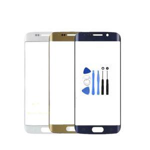Frente Outer lente de vidro de substituição Para o transporte livre Tela Samsung Galaxy S6 Borda Além disso S6 Borda + G928 G928F Toque + Ferramentas