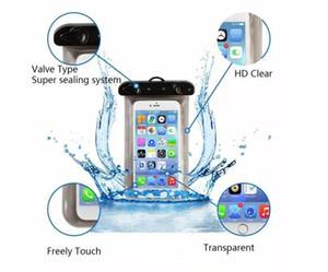 Tamanho Universal 5.7 '' À Prova D 'Água Saco Do Telefone Móvel Caso Claro PVC Selado Underwater Celular Telefone Inteligente Bolsa Seca Casos de Telefone Celular