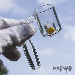 CAD Core Quartz Banger Nail para aplicar aceite en los toques cambia de color cuando se calienta banger de cuarzo con inserto