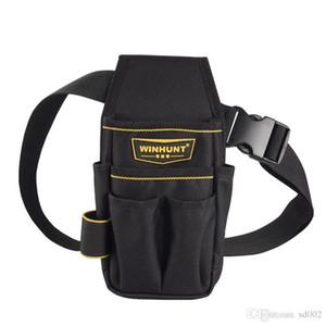 Sturdy Waist Bag Thicken Portable Design Hardware Lienzo Electrician Pouch Desgaste resistente sin herramientas Almacenamiento Bolsas 17 5sq ZZ