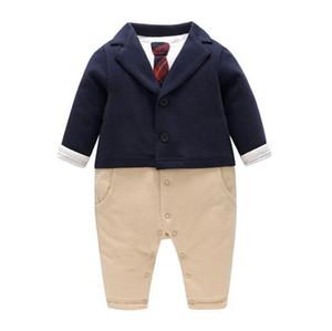 bebé niño ropa caballero mameluco otoño invierno bebé niño grueso warml homper ropa