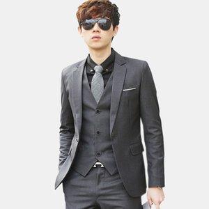 (Jacket + Pant + Tie) Hombres de lujo Traje de boda Blazers masculinos Slim Fit Trajes para hombres Traje de negocios Formal Party Blue Classic Black
