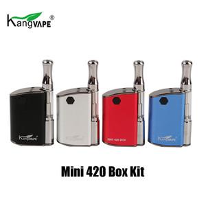 정통 Kangvape 미니 420 상자 스타터 키트 400mAh 배터리 기화기 Vape 모드 510 스레드 0.5ml 세라믹 카트리지 Atomizer 100 % 오리지널