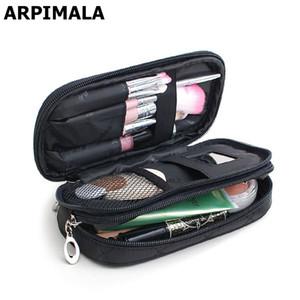 ARPIMALA مستحضرات التجميل حقائب ماكياج حقيبة المرأة سفر منظم المهنية التخزين فرشاة الضرورات المكياج حالة الجمال حقيبة أدوات الزينة