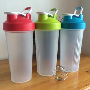 Proteine in polvere Shaker bottiglia di acqua del miscelatore portatile Fitness Sport Shaker Bottle singolo strato Nutrizione Latte Mixer Proteine