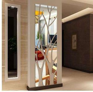 Moderno acrilico specchio Wall Sticker rimovibile Decalcomania di arte murale Wall Sticker Home Room Decor DIY Albero 2O0322