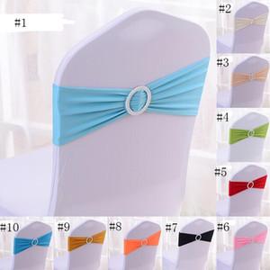 100 PCS DHL LIVRAISON GRATUITE fini bord spandex lycra chaise bandes élastique chaise sash avec boucle pour le mariage SN736