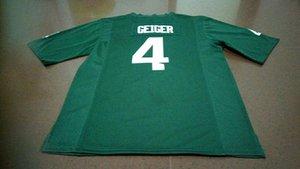 Men # 4 Michael Geiger Michigan State Spartans Alumni Camiseta de fútbol S-4XLor personalizado cualquier nombre o número camiseta