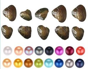 Fantasia Presente Akoya Pérola Alta Qualidade Barato Love Freshwater Shell Pérola Oyster 6-7mm Colorido Misturado Pearl Oyster com Embalagem de Vácuo Bom