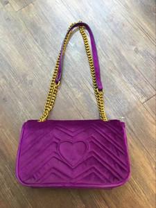 2018 Nuevos bolsos de terciopelo caliente de las mujeres del estilo de Vogue Style Stripes Bolso de hombro del monedero del bolso de CHain de la cadena de hombro envío libre