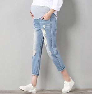 Jeans Calças Maternidade para grávidas Roupa feminina Calças Enfermagem Prop Belly Legging Gravidez Vestuário Batas Nona Calças Novas
