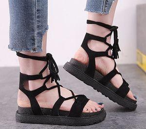 2018 souliers d'été pour femmes souliers romains calceus calceus légers, conception simple, tatbeb dames sandale en daim zyws02