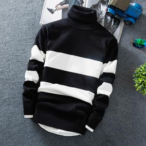 Cashmere Pullover Hombres 2018 Nueva Moda Jersey de Cuello Alto Thin Sweater Otoño Hombres Suéteres Casual Hombres Suéteres de Punto MY8071