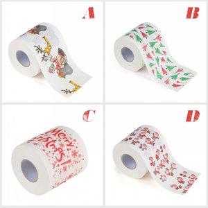Новый рождественский узор Туалетная бумага Roll Fashion Смешной юмор Gag Xmas Festival Украшение Подарки 5 стиль