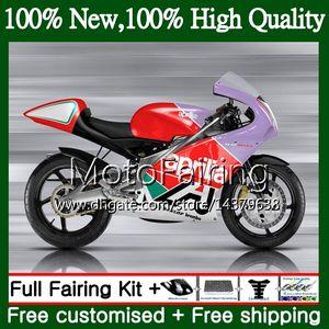 Cuerpo rojo púrpura para Aprilia RS4 RS125 99 00 01 02 03 04 05 RS-125 4MF12 RSV125 RS 125 1999 2000 2001 2002 2003 04 2005 Carrocería de carenado