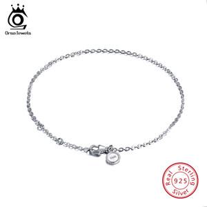 ORSA JEWELS Настоящее Стерлингового Серебра 925 Браслеты Женщины Идеальный Полированный Браслет Lobster-Claw-clasp Модные Женские Украшения SB29
