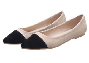 Colorante fósforo de las mujeres del zapato de las mujeres de cuero puntiagudo zapatos femeninos casuales zapatos planos de retazos de moda zapatos para damas zywl02