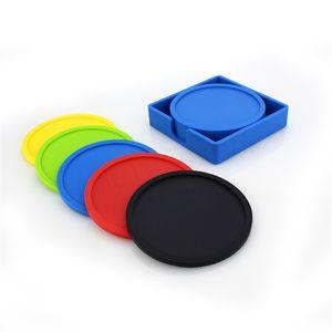 Set de tapis de tasse en silicone de qualité alimentaire Sous-verres isolants et isolants thermiques Design créatif du coussinet de tasse anti-débordement
