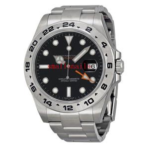 Novos homens de luxo relógios de pulso Explorer II Aço Inoxidável Mostrador Preto Mens 42mm Assista 216570 2016 Mint! Relógios Mens Mecânicos Automáticos