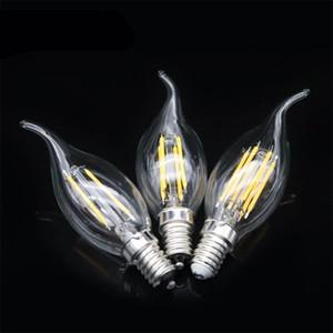 Bombilla LED de imitación de tungsteno Las lámparas de incandescencia retro forma transparente de Velas de luz Torpedo filamento Blister alto grado 5 5yg3 ff