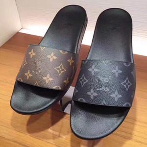 Hombres y mujeres nuevos tigres de impresión zapatos del diseñador de la sandalia de diapositivas de lujo para hombre zapatillas casuales para hombre y para mujer de las sandalias de moda