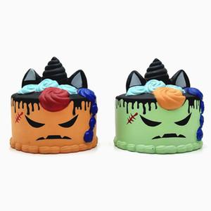 Hallowmas Squishy bolo 11 CM Slow rising Rebound Descompressão Brinquedos Squishies Mão Brinquedo Espremido Crianças Presentes do Dia Das Bruxas