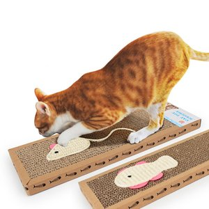Corrugated Cat Scratch Board Mat Cat Scratcher Sisal Cat Interactive Toys Kitten Scratching Post Catnip Toys Training