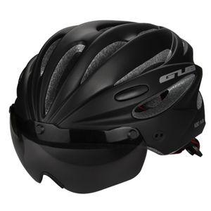 Visor Manyetik Gözlük ile bisiklet Kask Entegral kalıplı MTB Yol Bisikleti Kask Bisiklet Erkekler Kadınlar için 58-62 cm