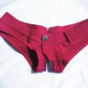 Seksi Kot Şort Fermuar Açık Yüksek Kesim Sıcak Kısa Düşük Bel Seksi Denim Ganimet Şort Vintage Sevimli Gece Kulübü Giyim Artı Boyutu 50
