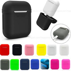 Силиконовый чехол противоударный защитный чехол Тонкий кожи для Apple, AirPods 2 1 Беспроводные наушники для зарядки Футляр Мягкий ТПУ чехол