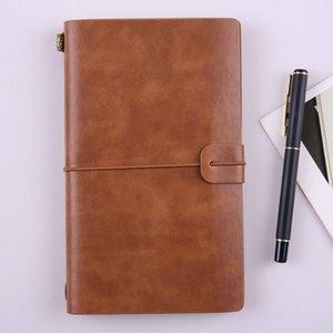 Hechos a mano del cuaderno de cuero genuino planificador de la agenda revista viajero cuadernos de bocetos diario CADERNO vendimia útiles escolares