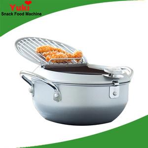 Gıda fritöz pot ile Japonya küçük tava termometre indüksiyon ocak evrensel olmayan sopa hiçbir duman kızartma pot