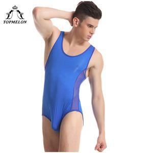 Venta al por mayor Wresting Shapers Mens una pieza de la camiseta Think transpirable Body Stocking Quality Body Exotic Club Jumpsuit