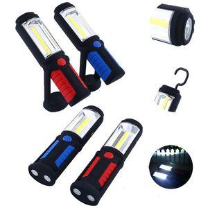 Neue 3D Night Magnetic (18 + 3) LED Multifunktions COB eingebaute Batterie USB Lade Arbeitslampe Außenbeleuchtung Camping Lampe Notlicht