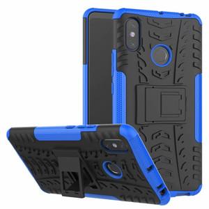 Para Xiaomi Mi Max 2 / Mi Max3 Max 3 Estuche rígido Armadura híbrida Protección suave Piel de gel TPU Soporte resistente Cubierta de silicona