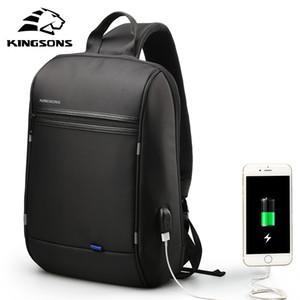 Kingsons 13.3 pulgadas antirrobo USB Charge Messenger Chest Bag Wateproof solo hombro portátil para hombres mujeres
